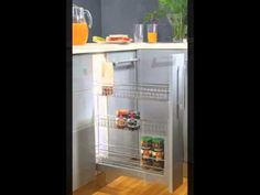 Pull out 2 shelf basket with anti scratch stainless base 35 kgs loading capacity, Soft closing mechanism Door mounted and other categories. (http://www.inoxdecor.com)