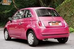 Pink Fiat 500, this one too - Luc Van Moorhem