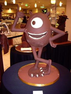Chocolate sculpture from monsters ink