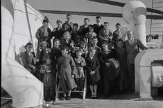 English child migrants, some of whom arrived in Australia.