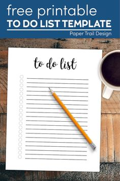Free printable to do list template is the perfect daily to do list printable to come back and print each day to help you slay. #papertraildesign #todolisttemplate #todolist #printabletodolist #dailytodolist #todo #todoprintable To Do Lists Printable, Free Printables, List Template, Templates, To Do Checklist, School Coloring Pages, Wedding Planner Binder, Notebook Organization, Notebook Paper