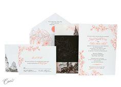 Ceci New York Rooftop Garden Wedding Invitations  #wedding #invitations #stationary