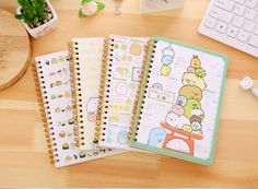 Sumikko Gurashi Notebook, Kawaii, San-X, Corner Creature, Stationary Gift, Cat Book, School Supplies, Spiral, Paper Lined Pages by mopapo on Etsy https://www.etsy.com/listing/457225550/sumikko-gurashi-notebook-kawaii-san-x
