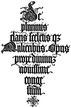 Alphabet in Old Gothic Lettering, undated by S. C. Malone