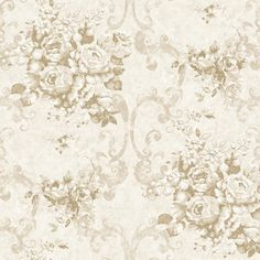 PN58701 White Ciera Floral Wallpaper - Perfectly Natural by Chesapeake