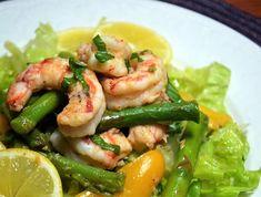 Roasted Shrimp and Asparagus Salad with Lemon Vinaigrette