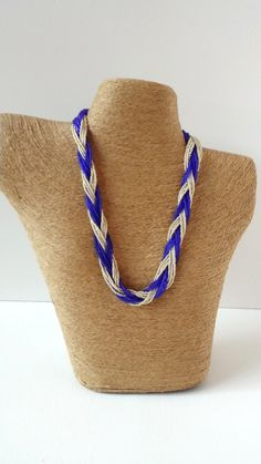 Sapphire Blue and silver necklace