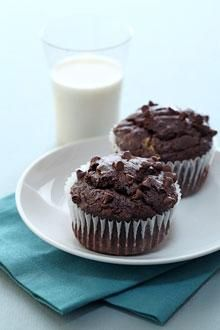 Chocolate Bananna Muffins. Recipe for ripe banannas. I'm trying this recipe out- muffins are in the oven now.