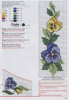 Cross-stitch Pansies Border & Corner section, part 2...   Gallery.ru / Фото #26 - rico3 - vira-pagut
