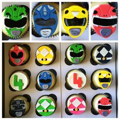 Power Rangers cupcakes!