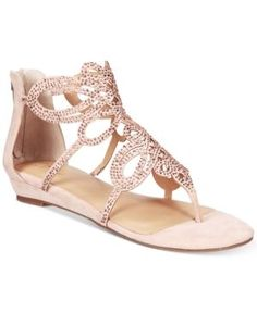 Thalia Sodi Laylan Scallop Wedge Sandals, Only at Macy's - Pink 7.5 W