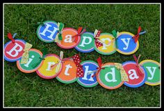 Happy Birthday Banners  Primary Colors by Chubbycheeksbysharon, $40.00