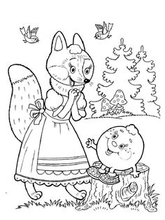 Coloring For Kids, Coloring Pages For Kids, Coloring Books, Basic Drawing For Kids, Math Crafts, Russian Folk Art, Color Stories, Art Pages, Colorful Pictures
