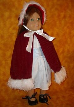 """Great for 18"""" dolls.  Made from a dollar store santa hat.  I am soooo excited to be able to give my daughter MORE clothes and spend way less for her dolls!"""