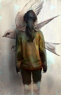 #2d-digital #Daniel-Clarke #art #sketch #painting #digital-art #illustration