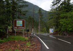 Road in Andorra approaching Spain