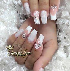 Amazing Nail Art Made Using Tones Products Acrylic Nail Designs, Acrylic Nails, Nail Saloon, Luv Nails, Wedding Nails Design, Ballerina Nails, Bridal Nails, Flower Nails, Stylish Nails