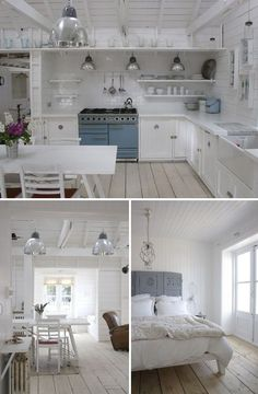 Lovely simple and open storage so guests can see where things are without opening every cabinet.