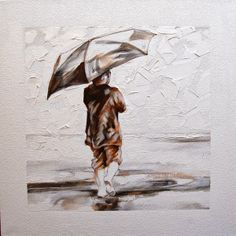 Oil and Graphite on Canvas x Singing In The Rain, Big Day, Cape, Statue, Canvas, Mantle, Tela, Cabo, Cloak