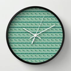 Modern #home or #office #interior decor and design:  Blues abstract art by Lucine Wall #Clock