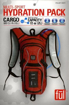 Multi Sport Hydration Pack 72 Oz Water Bladder Capacity – Red, Outdoor Stuffs