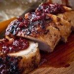Varkenshaas met cranberrysaus