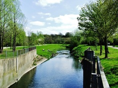The River Tame, Sandwell Valley. West Bromwich. England