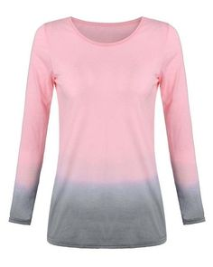 S-6XL Plus Size ZANZEA T-Shirt 2017 Summer Women Long Sleeve O Neck Cotton Tops Tee Casual Loose Gradient Color T shirts Blusas