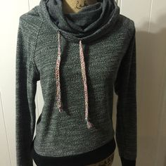 Roxy Sweatshirt  Only worn one time! Like new Roxy sweatshirt. Great/black, size small but will fit medium as well. 55% cotton 45% rayon. I'm always open to reasonable offers through the offer button! PLEASE PLEASE PLEASE ASK ALL QUESTIONS BEFORE PURCHASING! Thank you for looking! ❣ Roxy Tops Sweatshirts & Hoodies