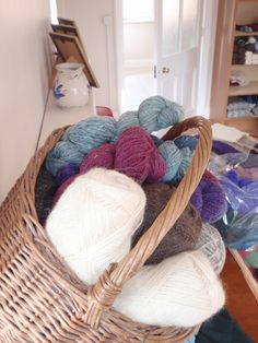 Some of the sumptuous wools used in Taylor Made Ewe Knit Projects
