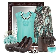 """Chocolate mint"" by msmeena on Polyvore #work #church #outfits"