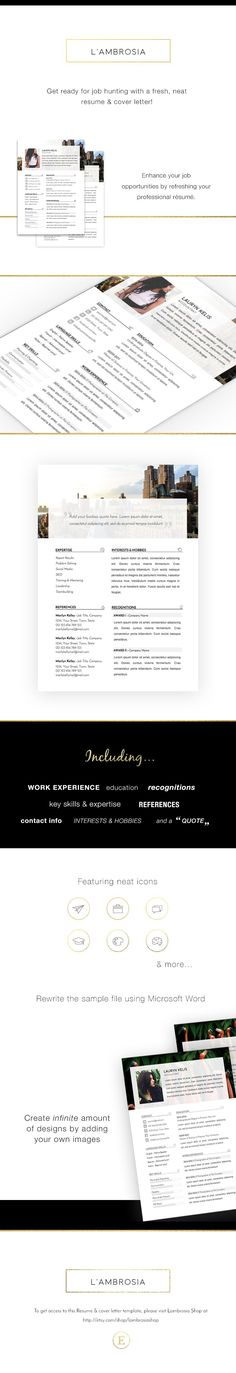 Professional Resume & Cover Letter Template for MS Word