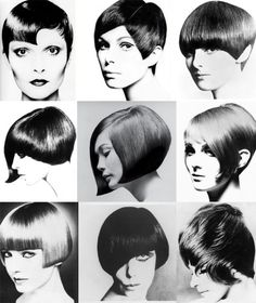 Vidal Sassoon Signature Cuts. We ironed our hair to straighten it into a Sassoon look.
