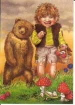 "Postkarte aus dem Buch ""Der kleine Troll"" Troll, Ronald Mcdonald, Poster, Teddy Bear, Animals, Fictional Characters, Paper Mill, Writing Paper, Postcards"