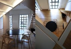 Fabio Azzolina architect - Loft - via Maiocchi - Milano  staircase upper floor wooden parquet wooden beams