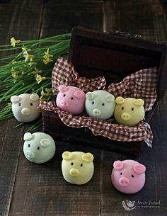 Handmade Snowskin Piggy 制作冰皮小猪猪