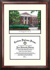University of Akron Zips Mahogany Diploma Frame & Lithograph