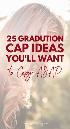 You have to see these 25 graduation cap decoration ideas, there's so many to lov… You have to see these 25 graduation cap decoration ideas, there's so many to love! You'll want to copy them ASAP for you big college (or high school) day. College Graduation, Graduate School, Graduation Caps, Graduation Ideas, College Club, College Life, College Hacks, Funny Grad Cap Ideas, Senior Ads