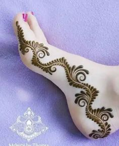 best New year foot mehndi designs ideas