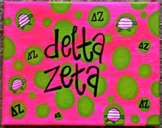 in my head i totally see this as zta Delta Zeta Crafts, Sorority Crafts, Sorority Outfits, Sorority Life, Delta Zeta Canvas, Total Sorority Move, 21st Bday Ideas, College Crafts, Turtle Time