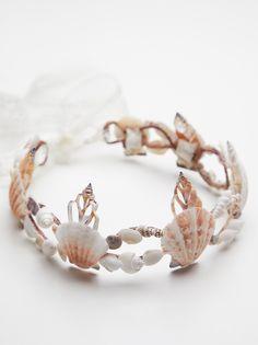 Tiaras, Fashion Crowns & Headpieces for Women Seashell Crown, Seashell Jewelry, Seashell Crafts, Mermaid Crown, Mermaid Princess, Mermaid Headpiece, Princess Crowns, Shell Crowns, Mermaid Crafts