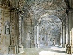 Klerisso, Charles-Louis - View of the lobby villa Madama. Hermitage, part 6 • download painting • Gallerix.ru