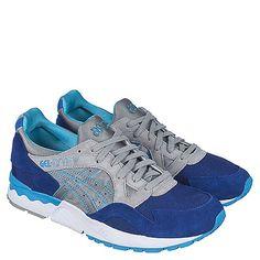 Buy #Asics #Gel-Lyte V Men's Blue Casual Lace Up Sneaker Online. #Men's #casual, lace-up, and Asics #sneakers at #ShiekhShoes.com.