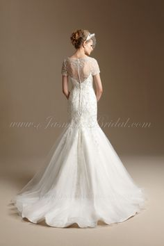 T152011 / Wedding Dresses / Jasmine Couture Collection / Available Colours : Ivory, White (back)