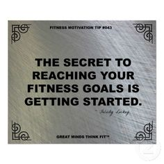 For getting started... #fitness #quote