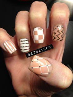 pattern, peach/beige, white. love these!