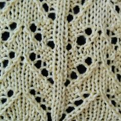 The Peaks and Columns stitch is a lace stitch that is knitted in a multiple of 12 stitches and done in an 8-row repeat.