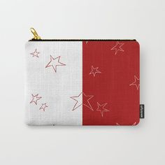 Buy Stars - Red and White Carry-All Pouch by laec. Worldwide shipping available at Society6.com. Just one of millions of high quality products available.