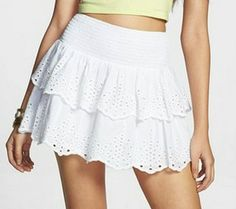 How cute is this #layered #skirt? #white #lace #pretty #summer #summerstyle #swag #cute #ootd
