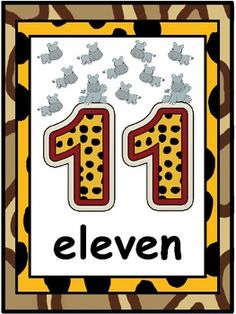 Decorate your jungle themed classroom and help students learn numbers and number words with these posters!Includes 10 posters (numbers 11-20)...